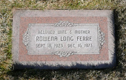 Rowena <i>Long</i> Ferre