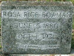 Rosa Lee <i>Rice</i> Bowman