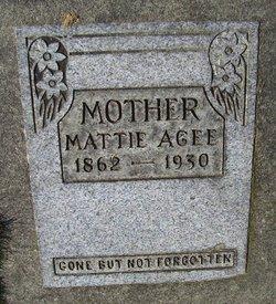 Mattie <i>Crouch</i> Agee
