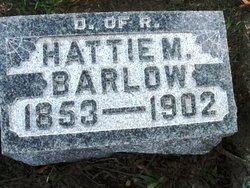 Hattie M <i>Lee</i> Barlow