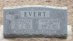 Henrietta <i>Alexander</i> Evert