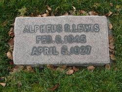 Alpheus R Lewis