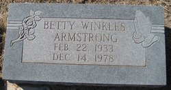 Betty <i>Winkles</i> Armstrong