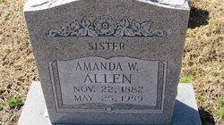 Amanda W <i>Lee</i> Allen