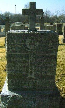 Maria A. Mary <i>Sachs</i> Amptmann