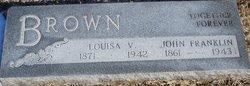 Louisa V <i>Whittington</i> Brown