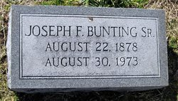 Joseph Frank Bunting, Sr