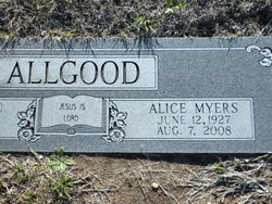 Alice Belle <i>Myers</i> Allgood