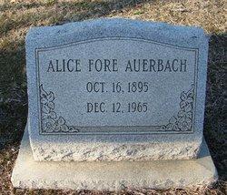 Alice <i>Fore</i> Auerbach