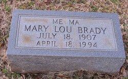 Mary Lou <i>Tarpley</i> Brady