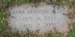 Anna <i>Newsome</i> Allen