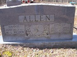 Nannie <i>Honeycutt</i> Allen