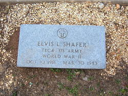 Sgt Elvis L. Shafer
