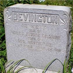 Henrietta <i>Gilmore</i> Bevington