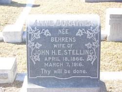 Annie Dorathea <i>Behrens</i> Stelling