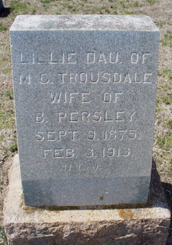 Lillie May <i>Trousdale</i> Persley