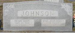 Irma Jean <i>Redus</i> Johnson
