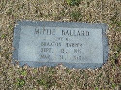 Mittie <i>Ballard</i> Harper