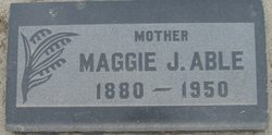 Maggie Jane <i>Parker</i> Able