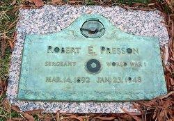 Sgt Robert E. Presson