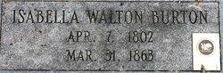 Isabella <i>Walton</i> Burton