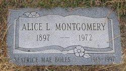 Alice Lucy <i>Back Boles</i> Montgomery