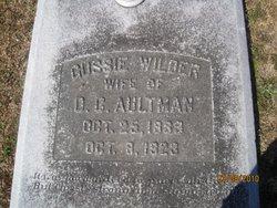 Gussie Tillman <i>Wilder</i> Aultman