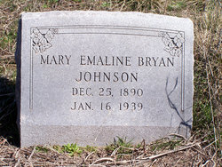 Mary Emaline <i>Bryan</i> Johnson