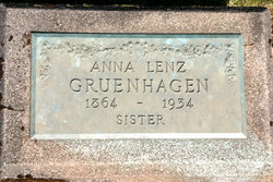 Anna <i>Lenz</i> Gruenhagen