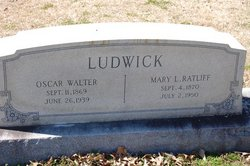 Mary L. <i>Ratliff</i> Ludwick