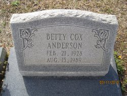Betty <i>Cox</i> Anderson