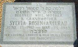 Sylvia <i>Rosen</i> Axelrad