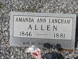 Amanda Ann <i>Langham</i> Allen