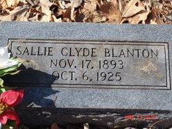 Sallie <i>Clyde</i> Blanton