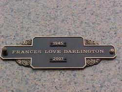 Frances Love Fran <i>Fitzgerald</i> Darlington