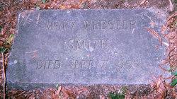 Mary <i>Webster</i> Smith