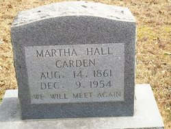Martha <i>Hammett</i> Carden