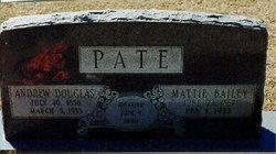 Martha Cordelia Mattie <i>Bailey</i> Pate