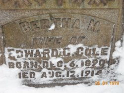 Bertha M Cole