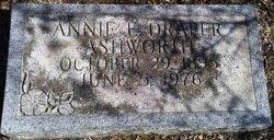 Annie F <i>Draper</i> Ashworth