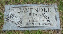 Rita Faye <i>Alford</i> Cavender