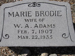 Minnie Marie <i>Brodie</i> Adams