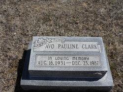 Avo Pauline Clark