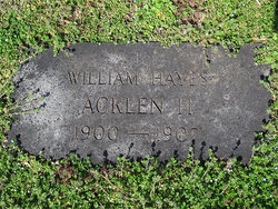 William Hayes Acklen, II