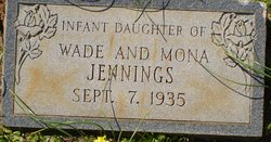 Infant Daughter Jennings