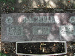 Hazel M <i>Carrigan</i> Bacheler