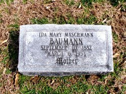 Ida Mary <i>Maschmann</i> Baumann