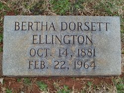 Bertha <i>Dorsett</i> Ellington