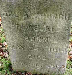 Julia Ann <i>Cardwell</i> Church Peaslee