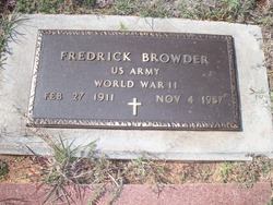 Fredrick Fred Browder
